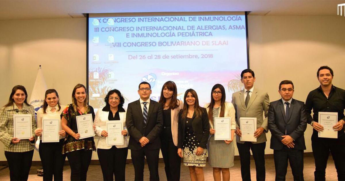 Juramentación de los nuevos miembros de la Sociedad Peruana de Inmunología