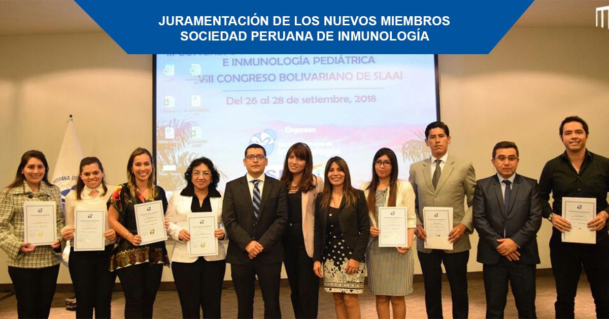Nuevos miembros de la Sociedad Peruana de Inmunología